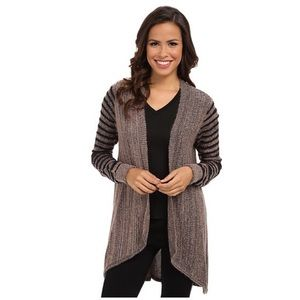 Adrianna Papell Amelia Cascade Open Front Sweater